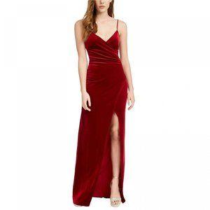 NWT Emerald Sundae Velvet Slip Dress Small Wine
